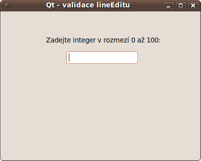 lineEdit - validace