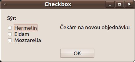 Qt checkbox - před zadáním