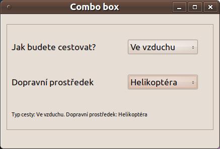 Combo box