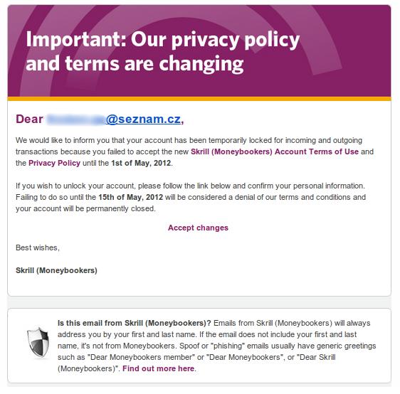 Phishingový email