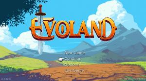 Evoland - úvodní obrazovka